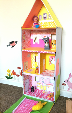 Bright & Colorful DIY Cardboard Doll House + Inspiration - Tonia Dee - toniadee.com/blog
