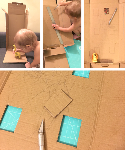 DIY Cardboard Doll House - Process Photos - Tonia Dee - toniadee.com/blog
