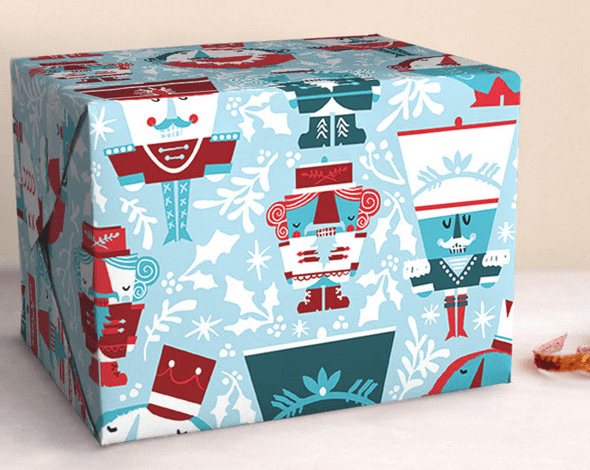Nutty Nutcracker Gift Wrap by Tonia Dee - toniadee.com - available on Minted.com - Winner of Editor's Pick for 2016